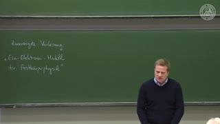 Theoretische Quantenmechanik: Ein-Elektronen-Modell der Festkörperphysik preview image