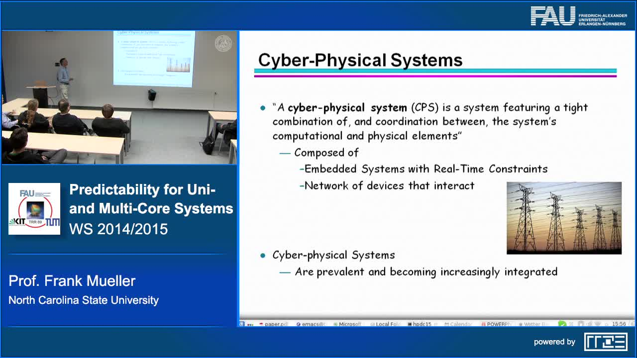Predictability for Uni- and Multi-Core Real-Time/Cyber-Physical Systems preview image