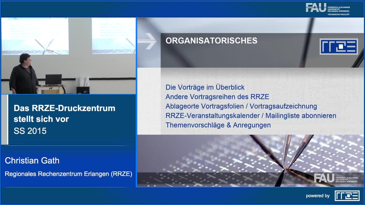 Das RRZE-Druckzentrum stellt sich vor preview image