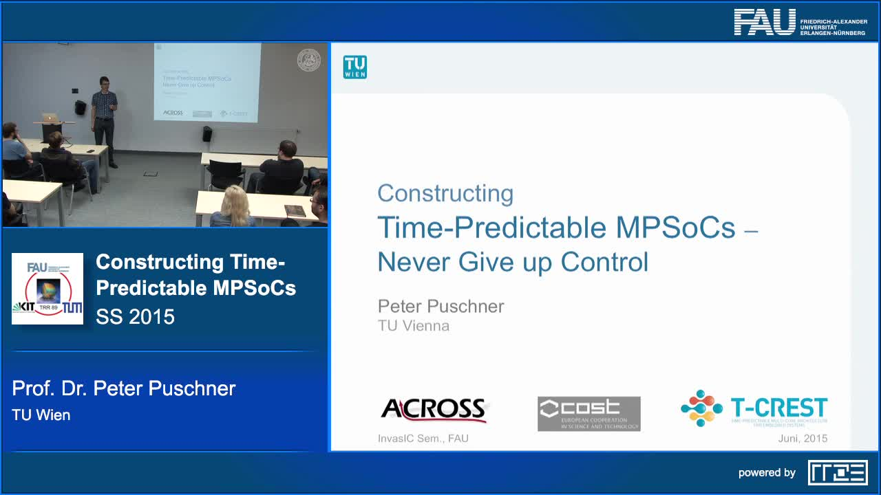 Constructing Time-Predictable MPSoCs - Never Give up Control preview image
