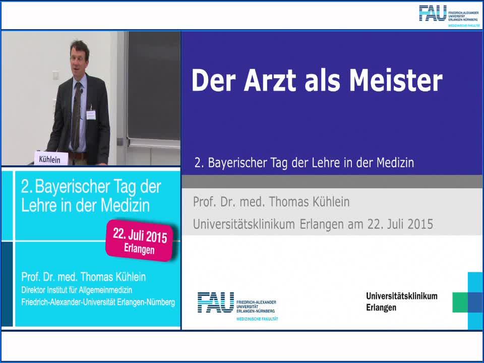 Versorgungsforschung - Der Arzt als Meister - 2. Bayerischer Tag der Lehre in der Medizin preview image
