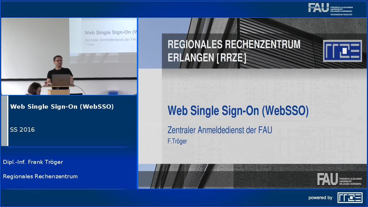 Web Single Sign-On (WebSSO) – Zentraler Anmeldedienst der FAU preview image