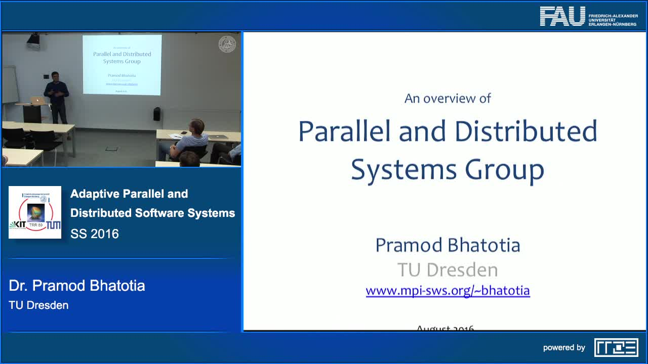 Adaptive Parallel and Distributed Software Systems preview image