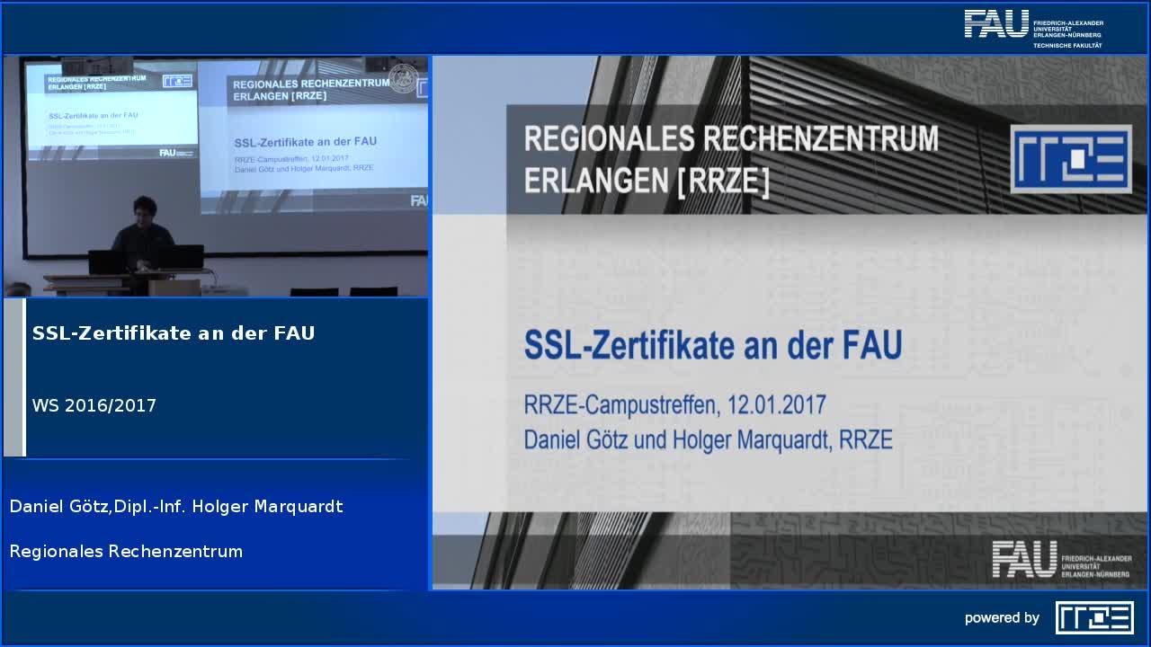 SSL-Zertifikate an der FAU preview image