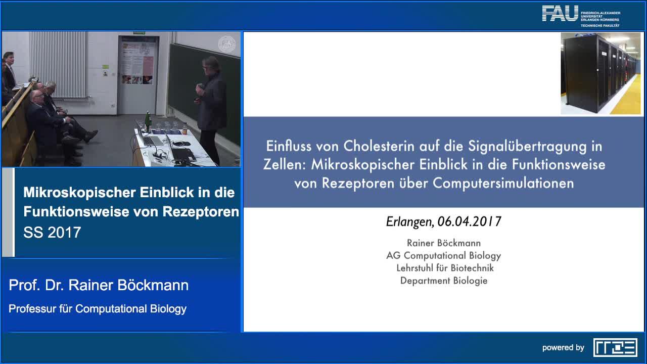 Einfluss von Cholesterin auf die Signalübertragung in Zellen: Mikroskopischer Einblick in die Funktionsweise von Rezeptoren über Computersimulationen preview image