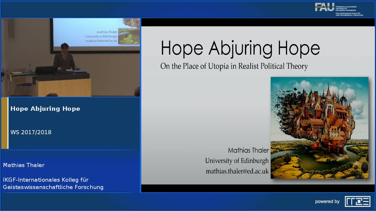 Hope Abjuring Hope: On the Place of Utopia in Realist Political Theory preview image