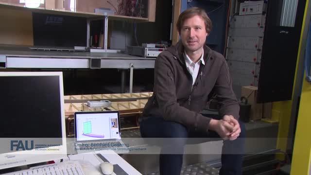 Das Modell im Strömungskanal preview image