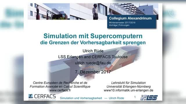 Simulation mit Supercomputern: Die Grenzen der Vorhersagbarkeit sprengen preview image