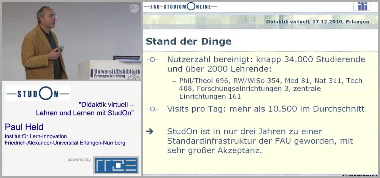 Eröffnung - Virtuelles Lernen mit StudOn preview image