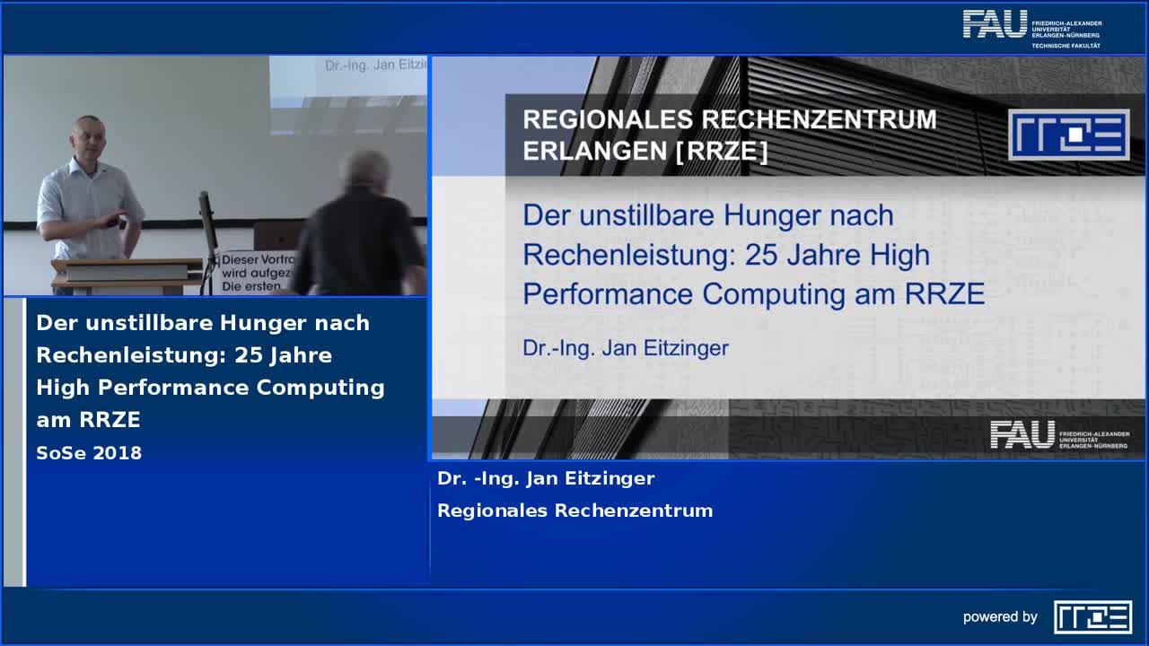 Der unstillbare Hunger nach Rechenleistung: 25 Jahre High Performance Computing am RRZE preview image