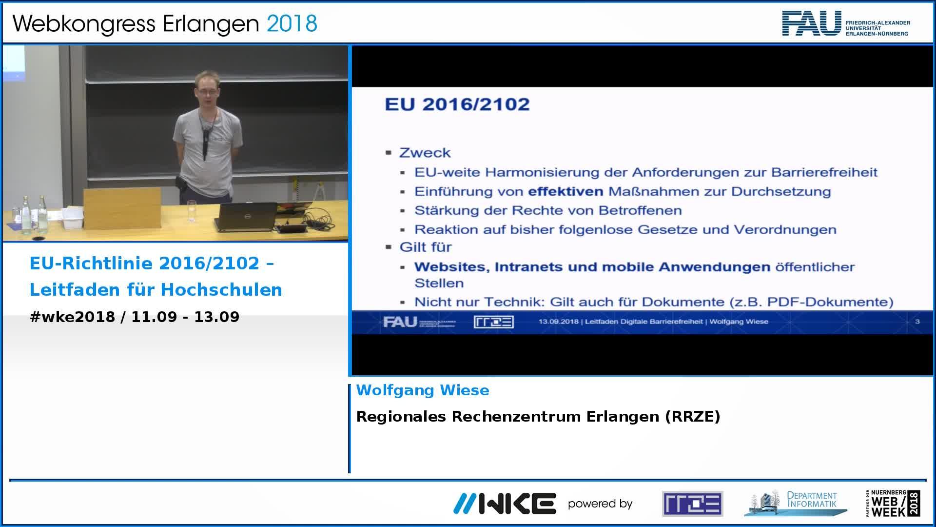 EU-Richtlinie 2016/2102 – Leitfaden für Hochschulen preview image