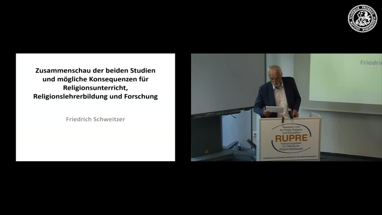 """Expert*innengespräch """"Religionsunterricht in Bayern"""" - Input II übergreifend: Zusammenschau der beiden Studien; mögliche Konsequenzen für Religionsunterricht, Religionslehrerbildung und Forschung preview image"""