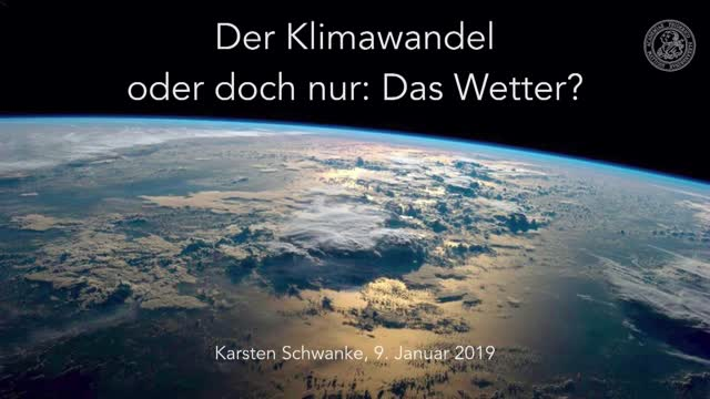 Klimawandel - Oder doch nur das Wetter? preview image