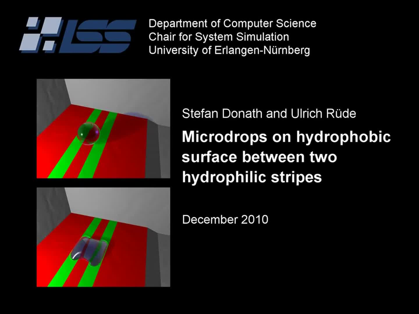 Wetting on striped surface using lattice Boltzmann free-surface method preview image