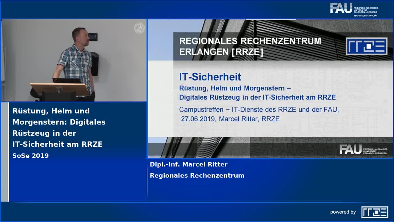 Rüstung, Helm und Morgenstern: Digitales Rüstzeug in der IT-Sicherheit am RRZE preview image