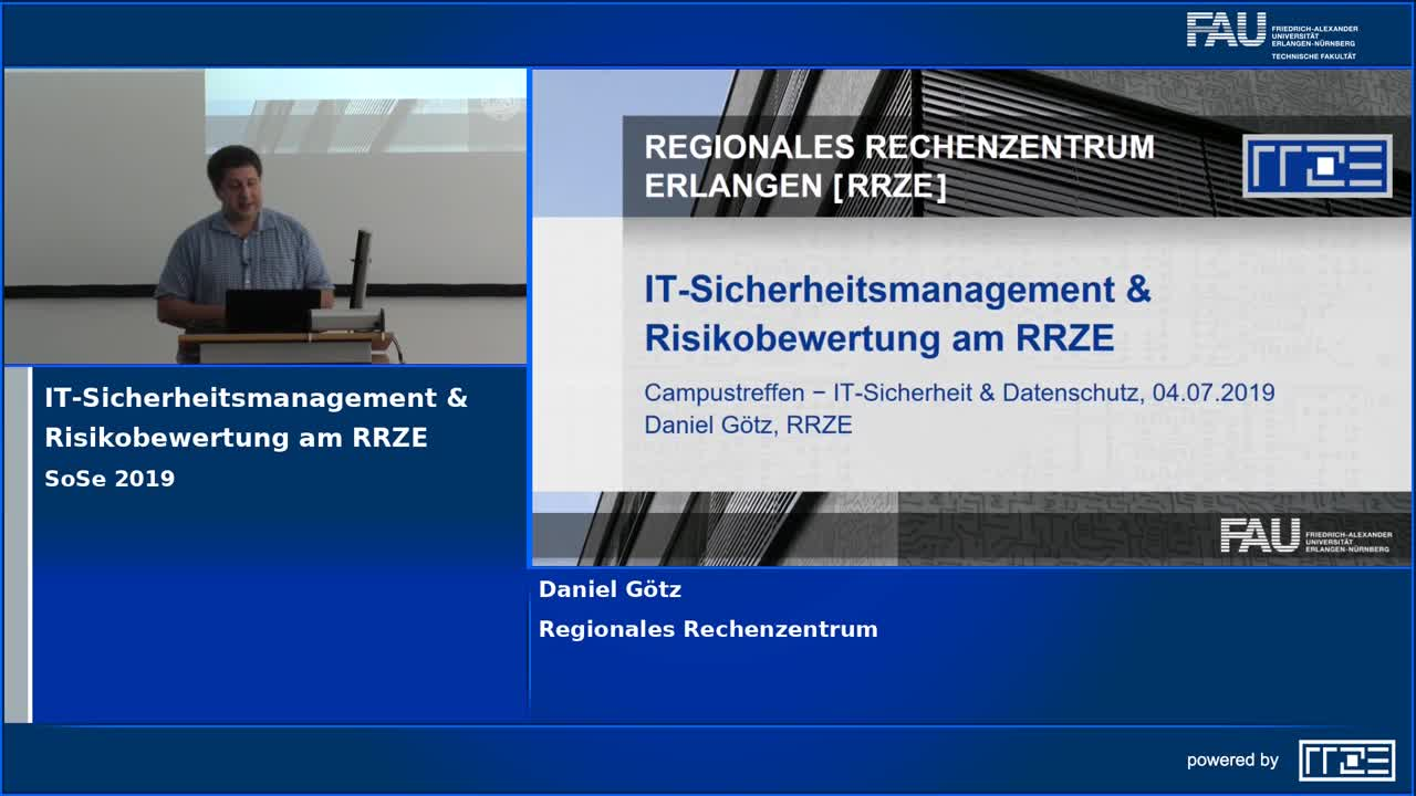 IT-Sicherheitsmanagement & Risikobewertung am RRZE preview image
