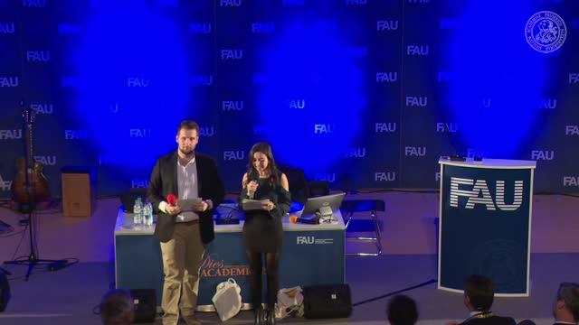 Aydan Eda Simsek und Selim Kücükkaya von der Studierendenvertretung sprechen zu ihrer FAU preview image