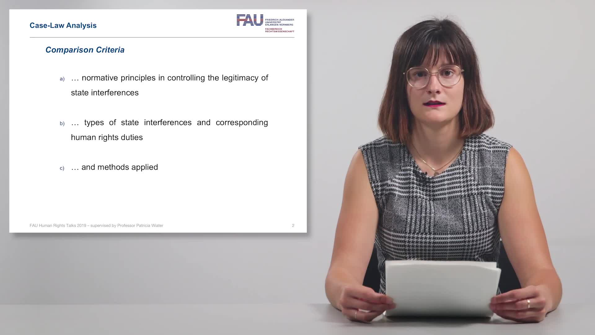 FAU Human Rights Talks – Summer Term 2019: Case-Law Analysis preview image