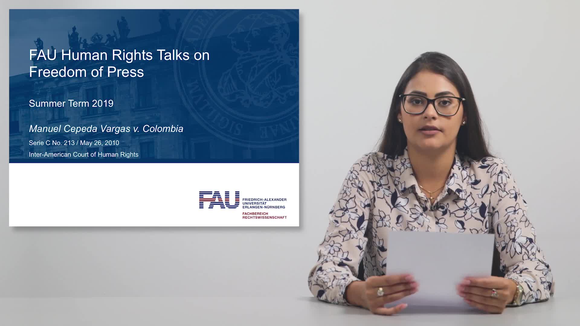 FAU Human Rights Talks – Summer Term 2019: Manuel Cepeda Vargas v. Colombia preview image