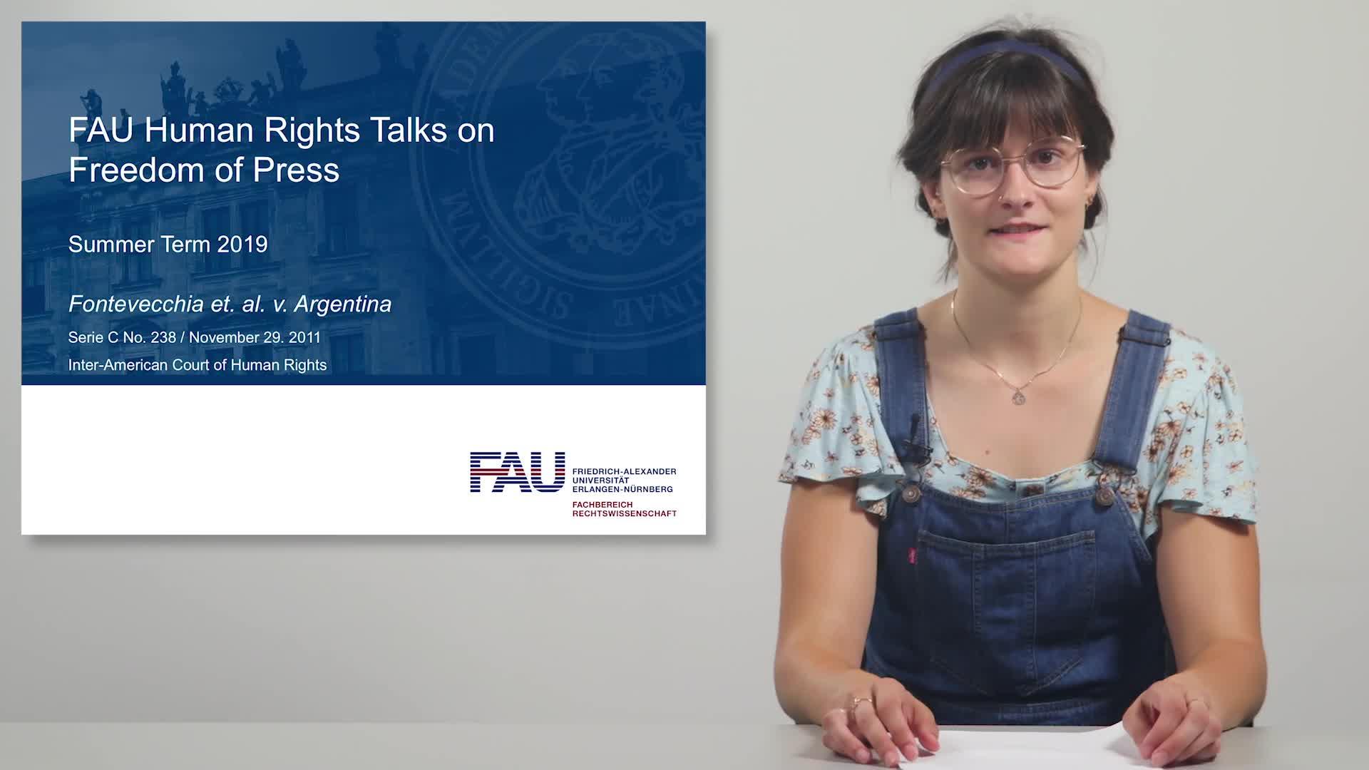 FAU Human Rights Talks – Summer Term 2019: Fontevecchia et. al. v. Argentina preview image