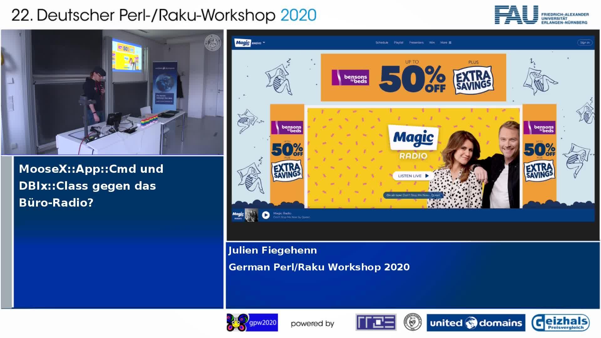 MooseX::App::Cmd und DBIx::Class gegen das Büro-Radio preview image