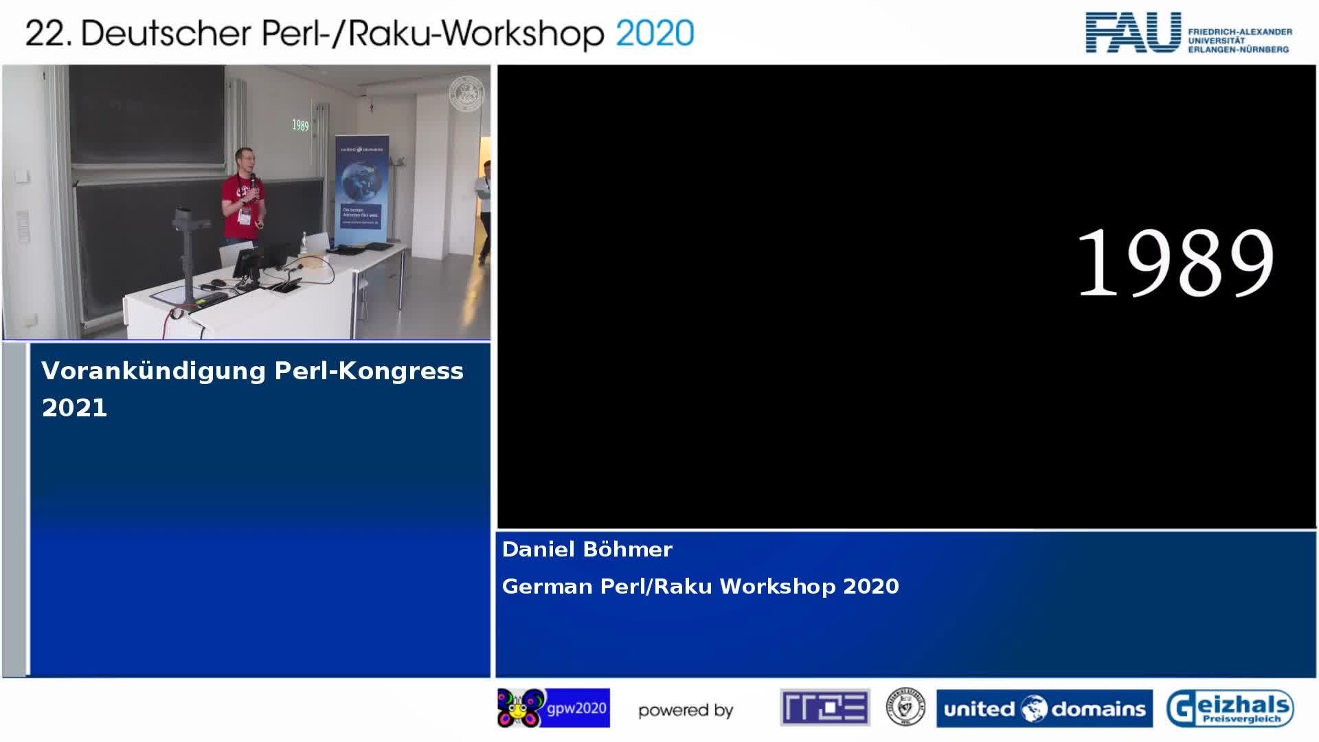 Vorankündigung Perl-Kongress 2021 preview image