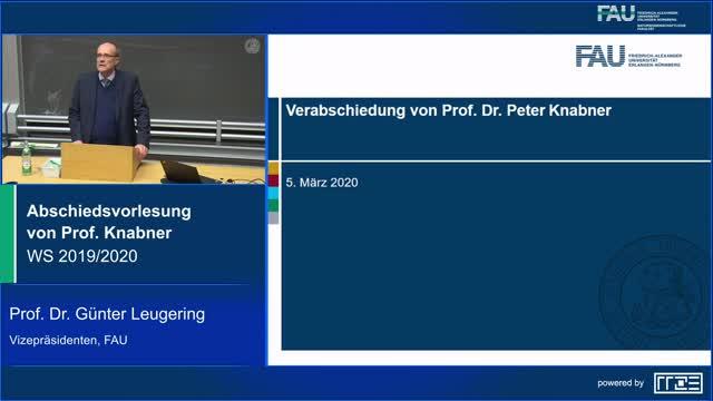 Begrüßung durch den Vizepräsidenten Research der FAU, Prof. Dr. Günter Leugering preview image