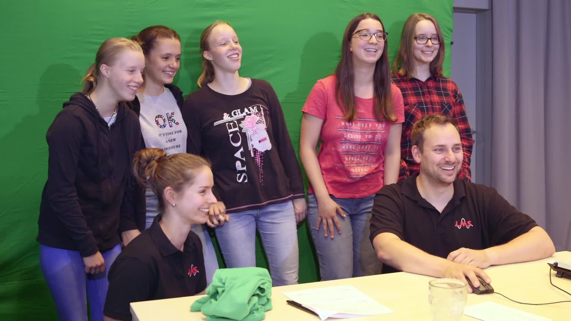 Greenscreen in Film und Fernsehen - das Mädchen-und-Technik Praktikum preview image