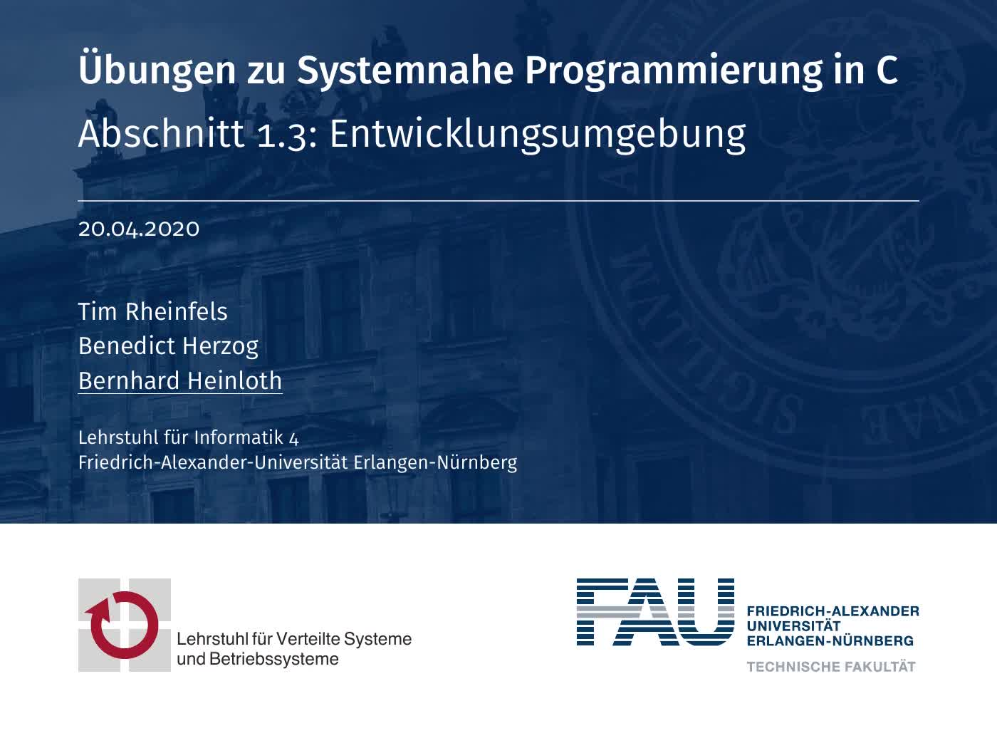 01.3: Entwicklungsumgebung (SPiC IDE) preview image
