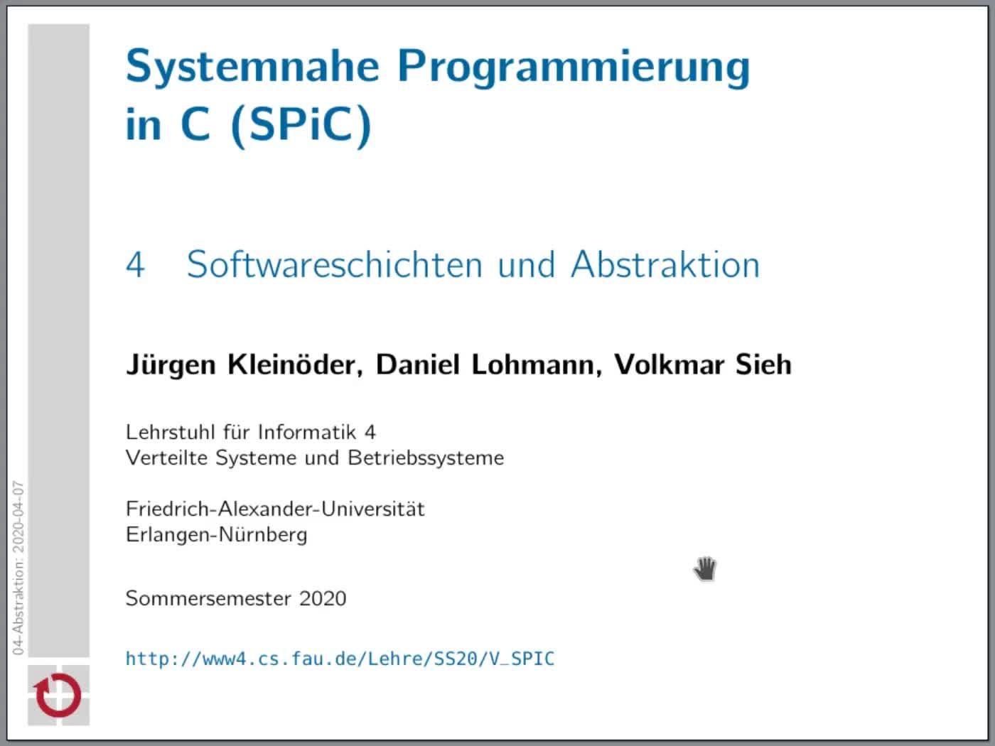 Kapitel 4: Softwareschichten und Abstraktion preview image