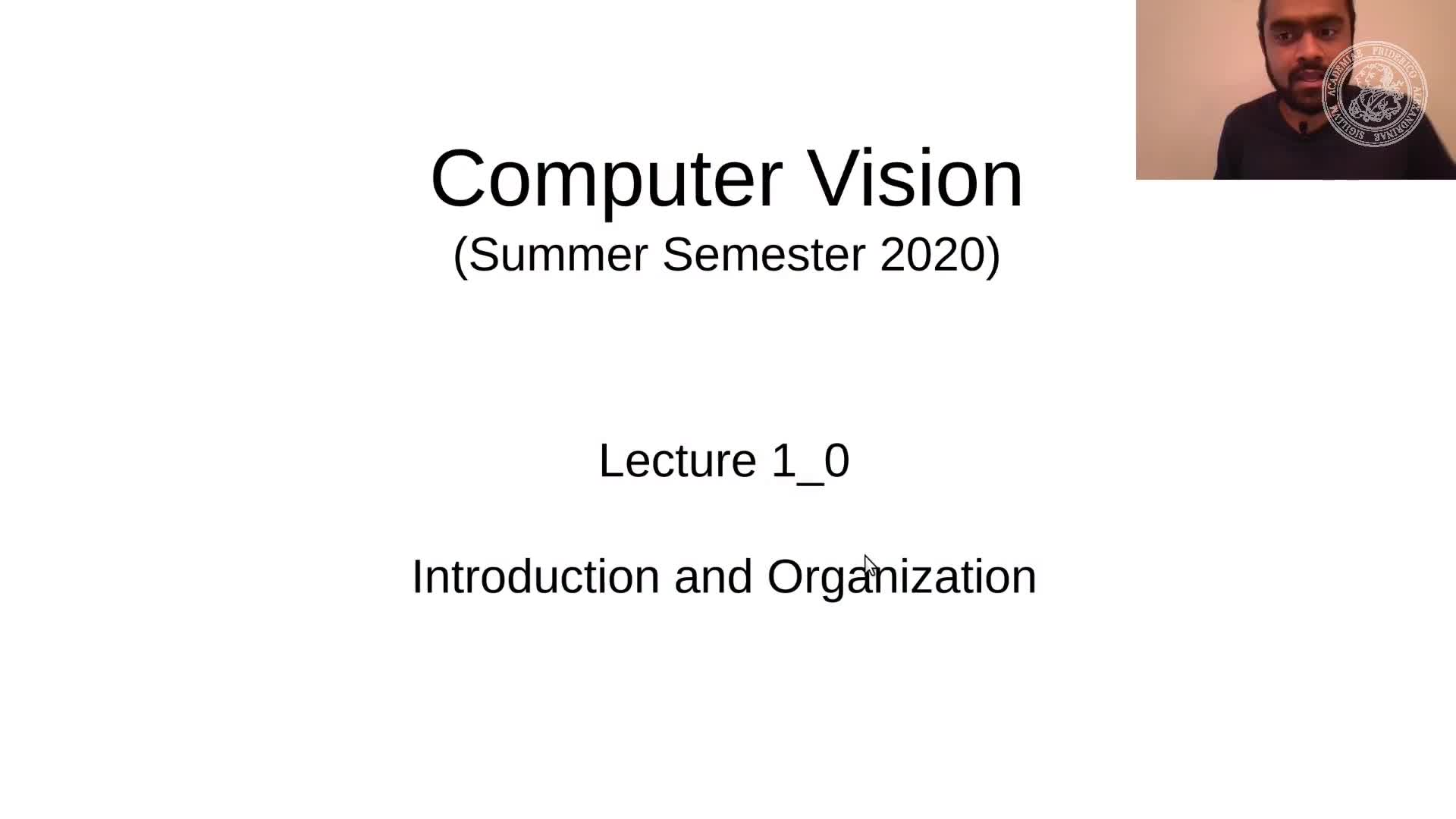 Team Intro and Course Organization (Lecture 1, Part 0) preview image