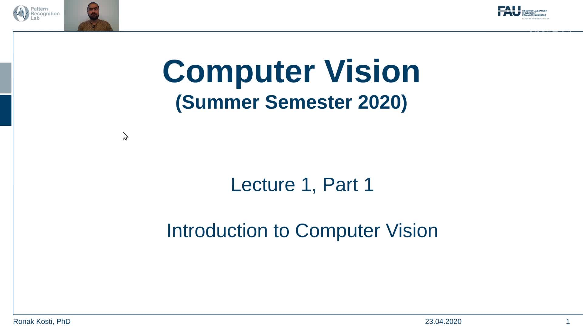 Intro to Computer Vision (Lecture 1, Part 1) preview image