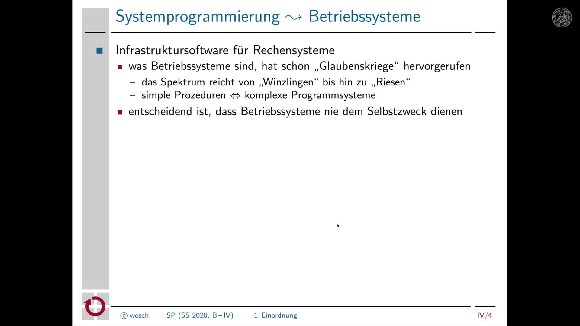 4.2 Einleitung: Einordnung von Systemprogrammierung preview image