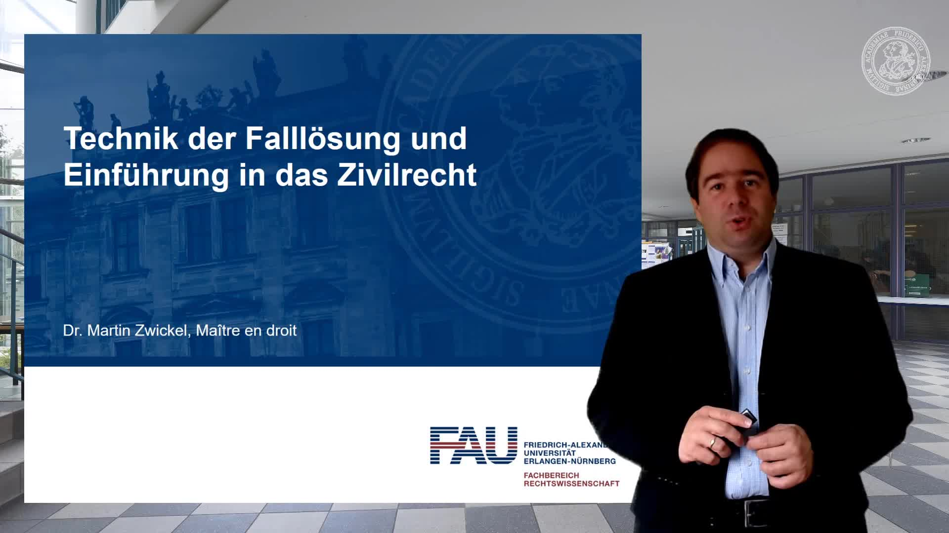 Video 1: Juristisches Grundhandwerkszeug preview image