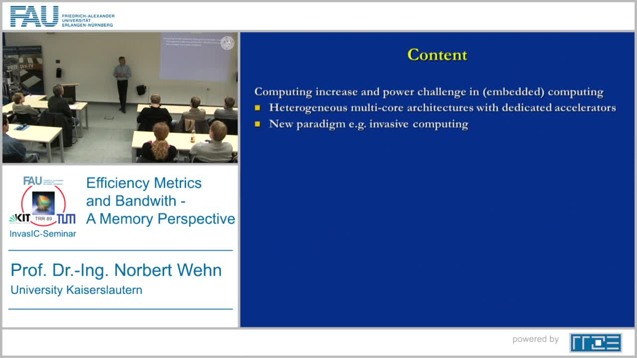 Efficiency Metrics and Bandwidth – A Memory Perspective preview image