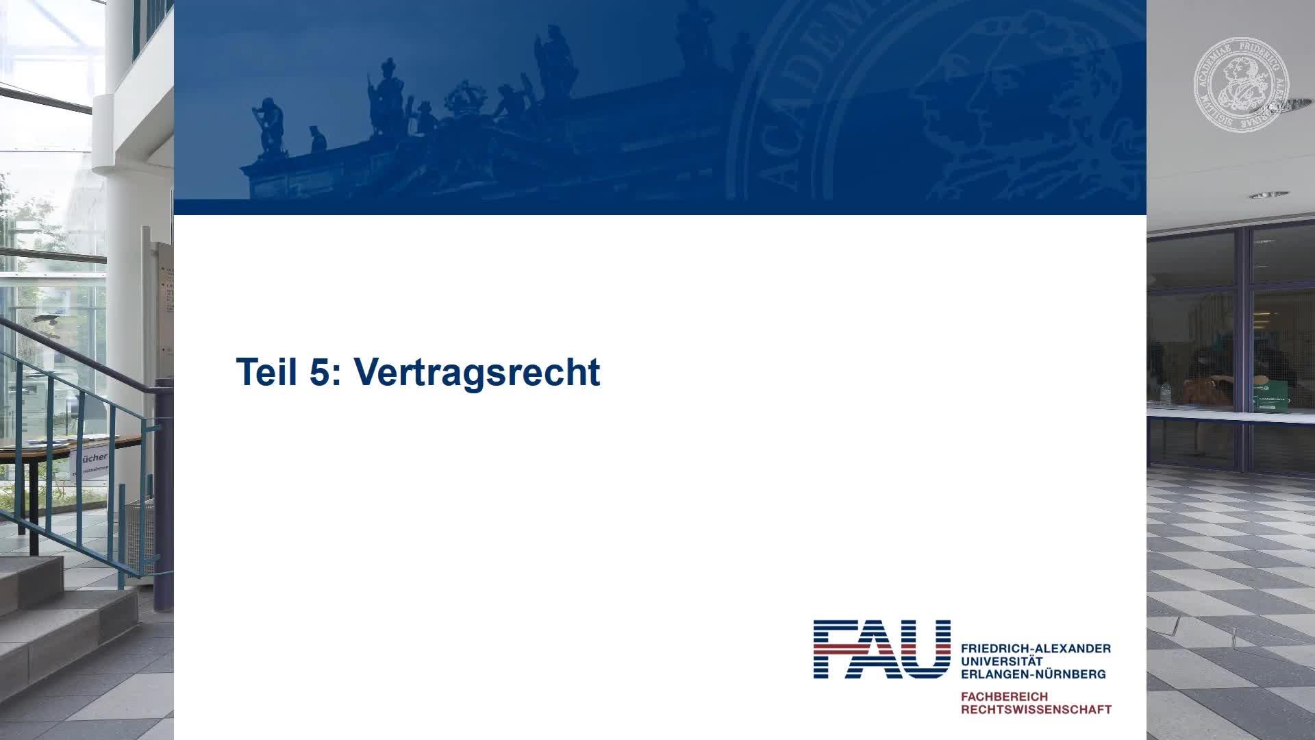 Video 5: Einstieg in das Vertragsrecht preview image