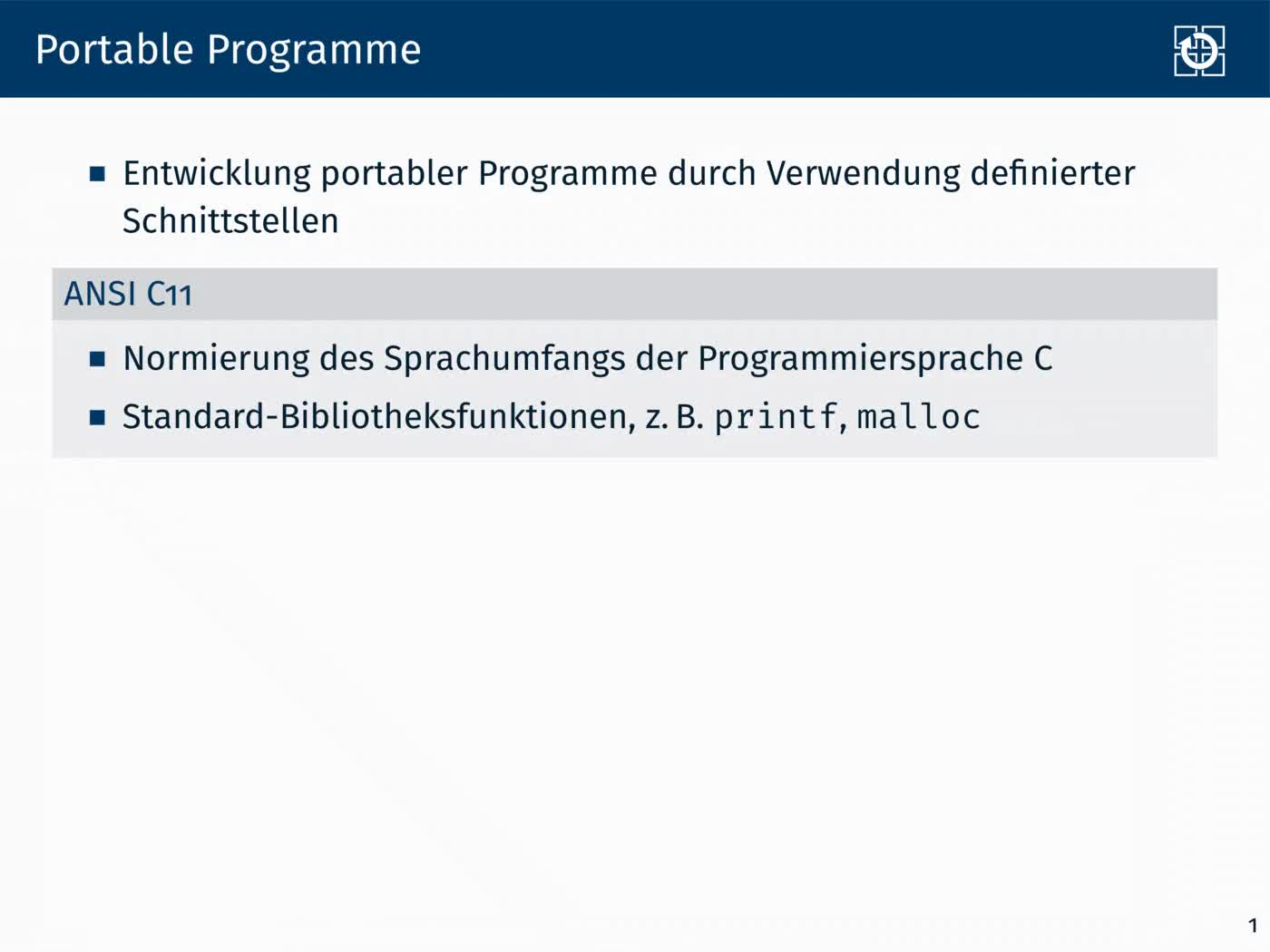 1.2 Dynamische Speicherverwaltung: Portabilität preview image