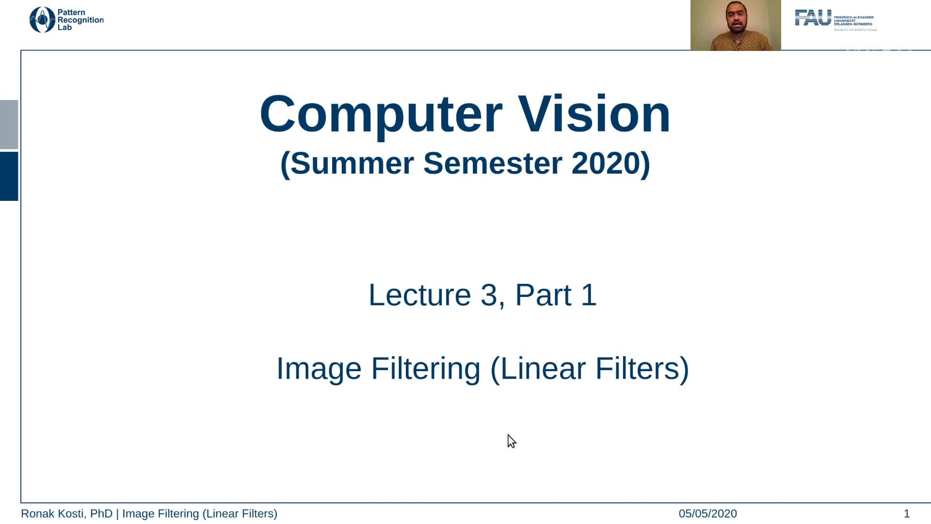 Image Filtering - Linear Filters (Lecture 3, Part 1) preview image