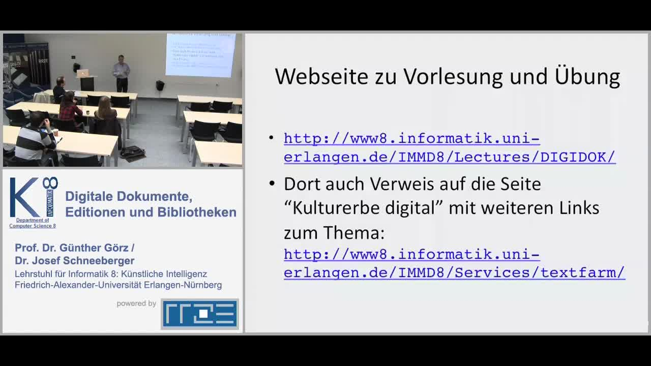 Digitale Dokumente, Editionen und Bibliotheken - XML-basierte Darstellung und Verarbeitung digitaler Dokumente preview image