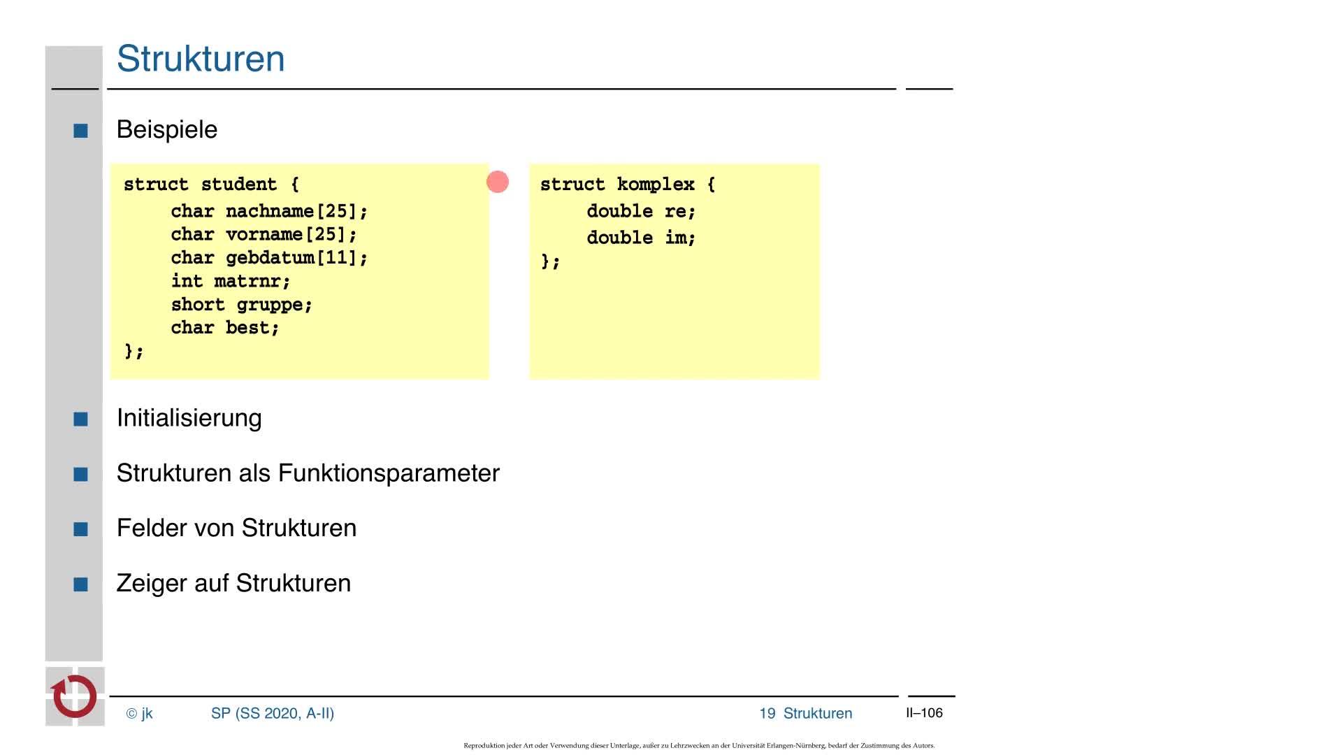 2.5.3 C-Kurzeinführung: Strukturen, Zeiger auf Funktionen preview image