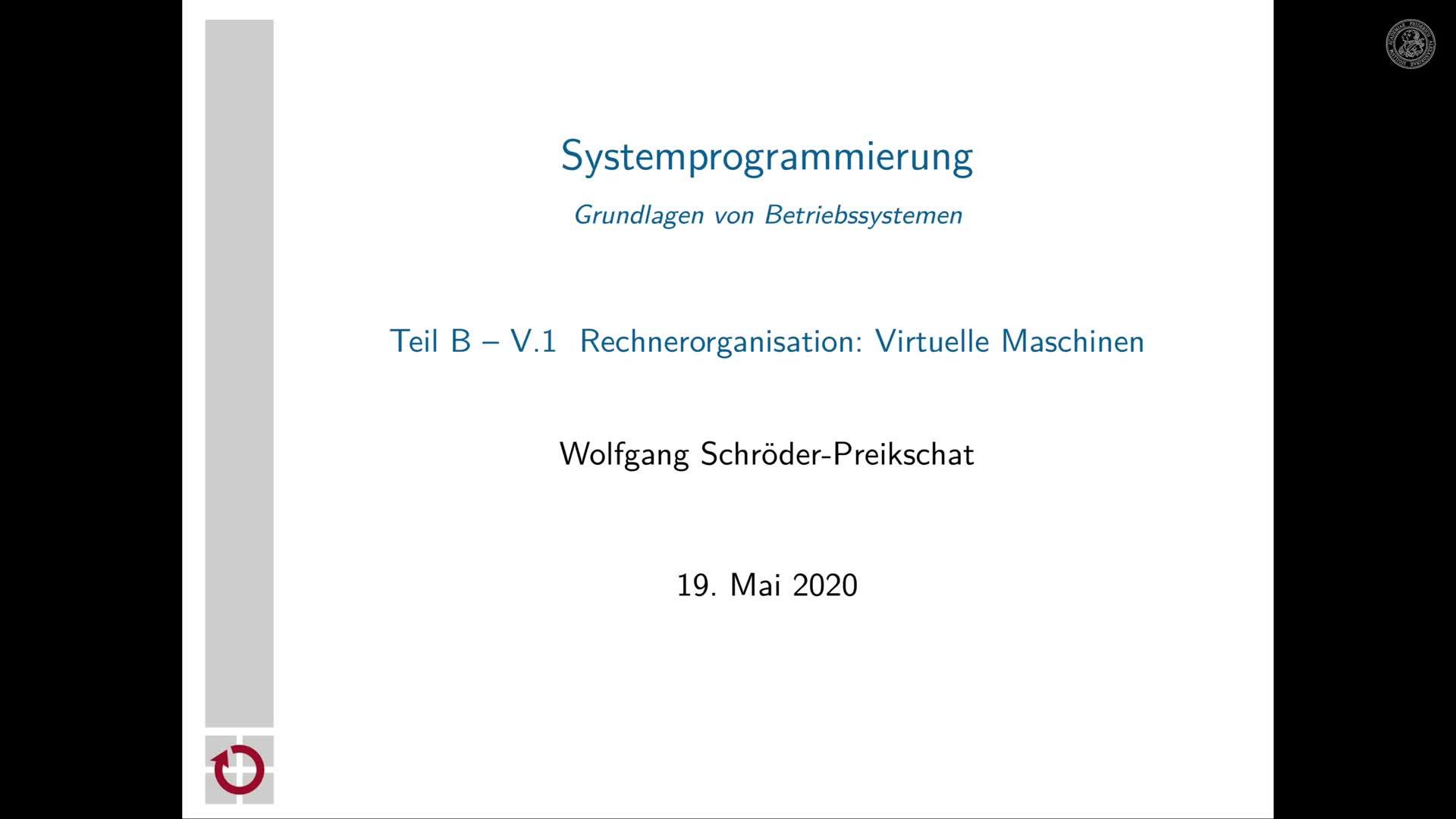5.1.1 Rechnerorganisation: Begrüßung und Tagesordnung preview image