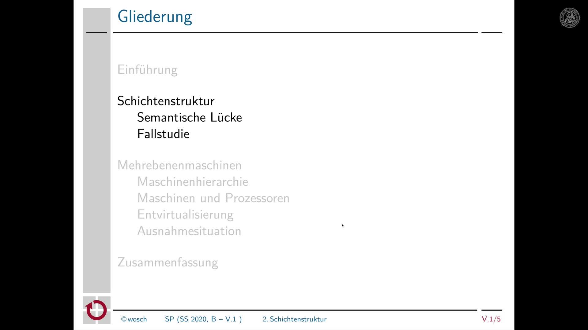5.1.3 Rechnerorganisation: Schichtenstruktur und semantische Lücke preview image