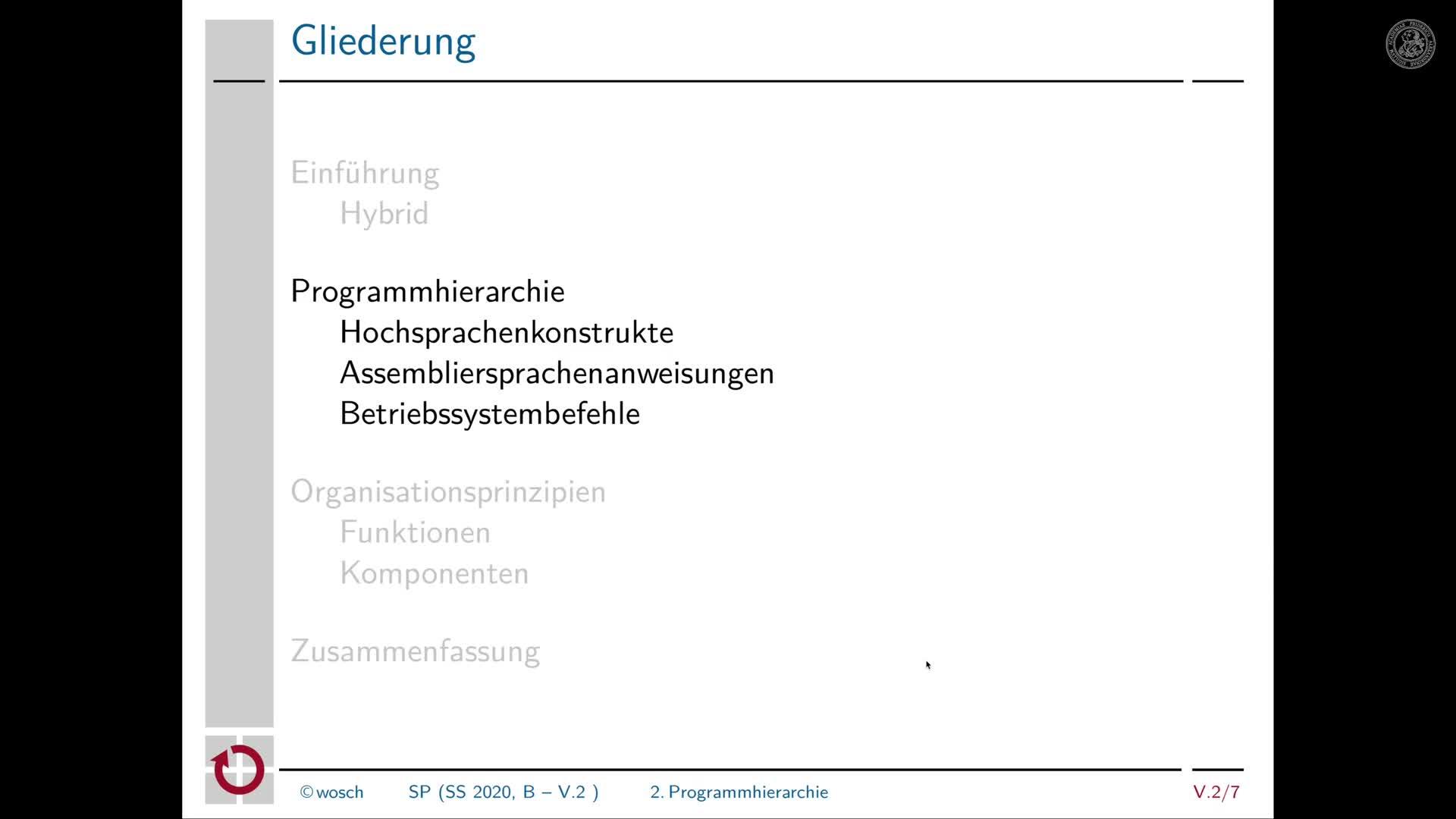 5.2.3 Rechnerorganisation: Programmhierarchie oberhalb der Befehlsatzebene preview image