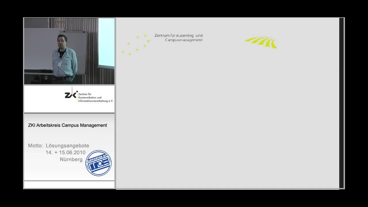 Verankerung des Lernmanagement im Zentrum des Campusmanagement - Eine Campusmanagement-Lösung basierend auf HIS, Stud.IP und Typo3 preview image