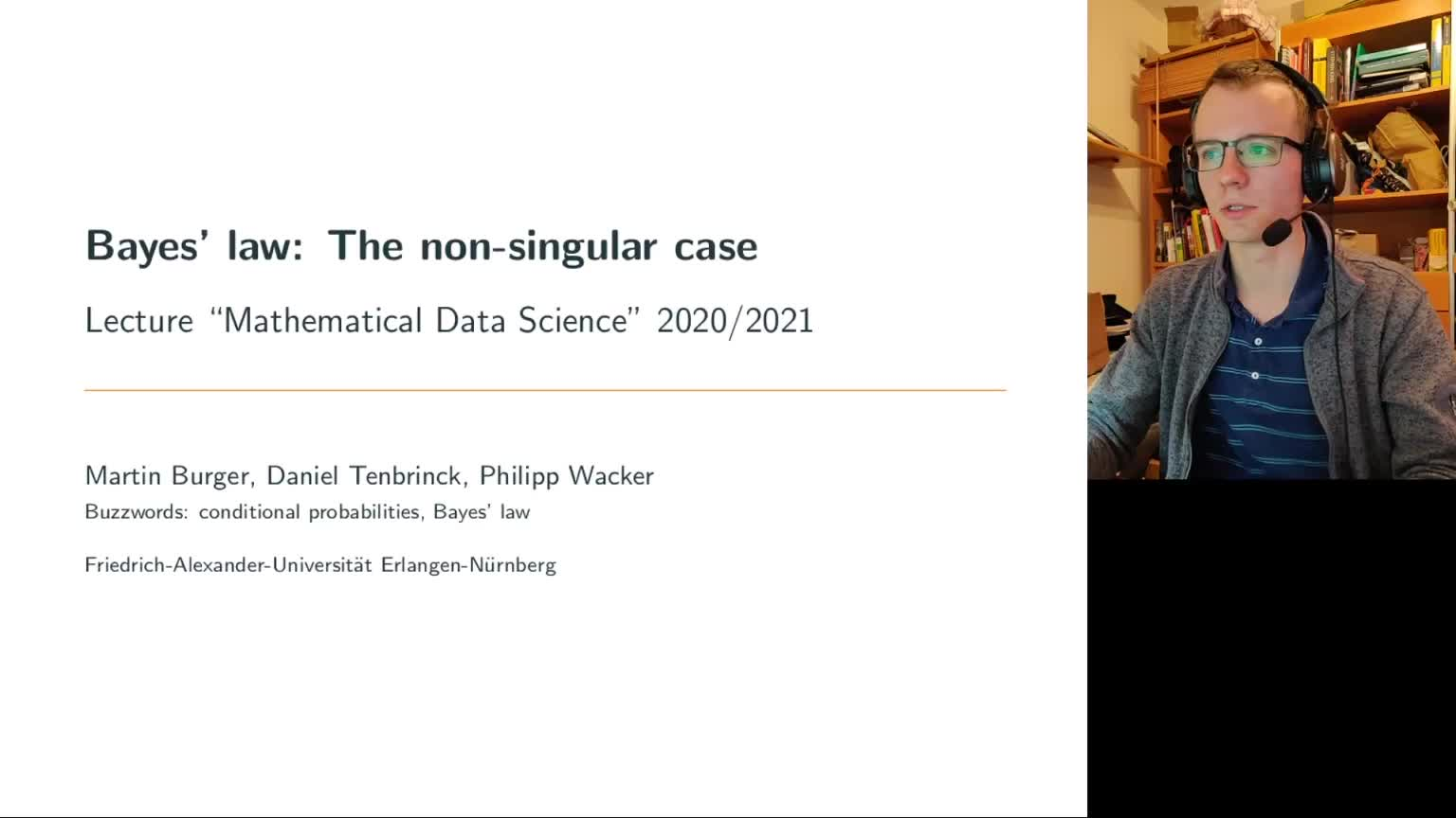 Nonsingular Bayes' Law preview image