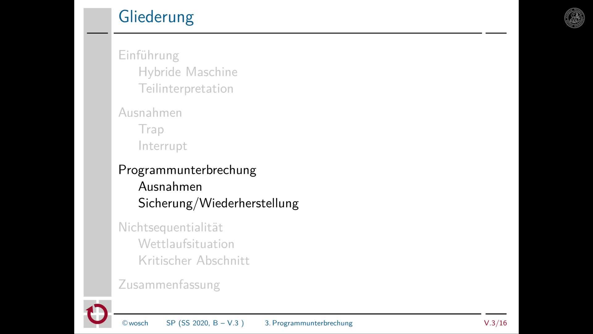 5.3.4 Rechnerorganisation: Synchrone und asynchrone Programmunterbrechungen preview image