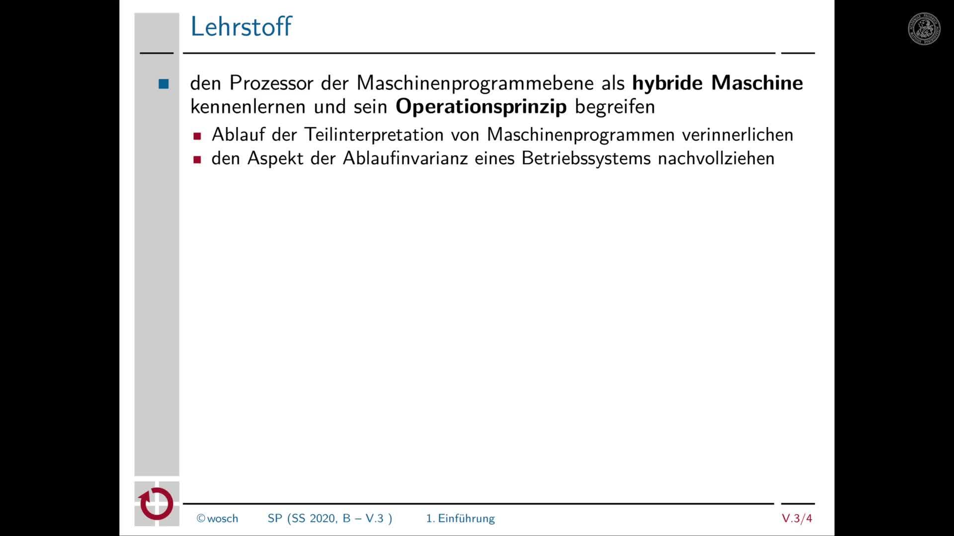 5.3.2 Rechnerorganisation: Einführung in die Teilinterpretation preview image