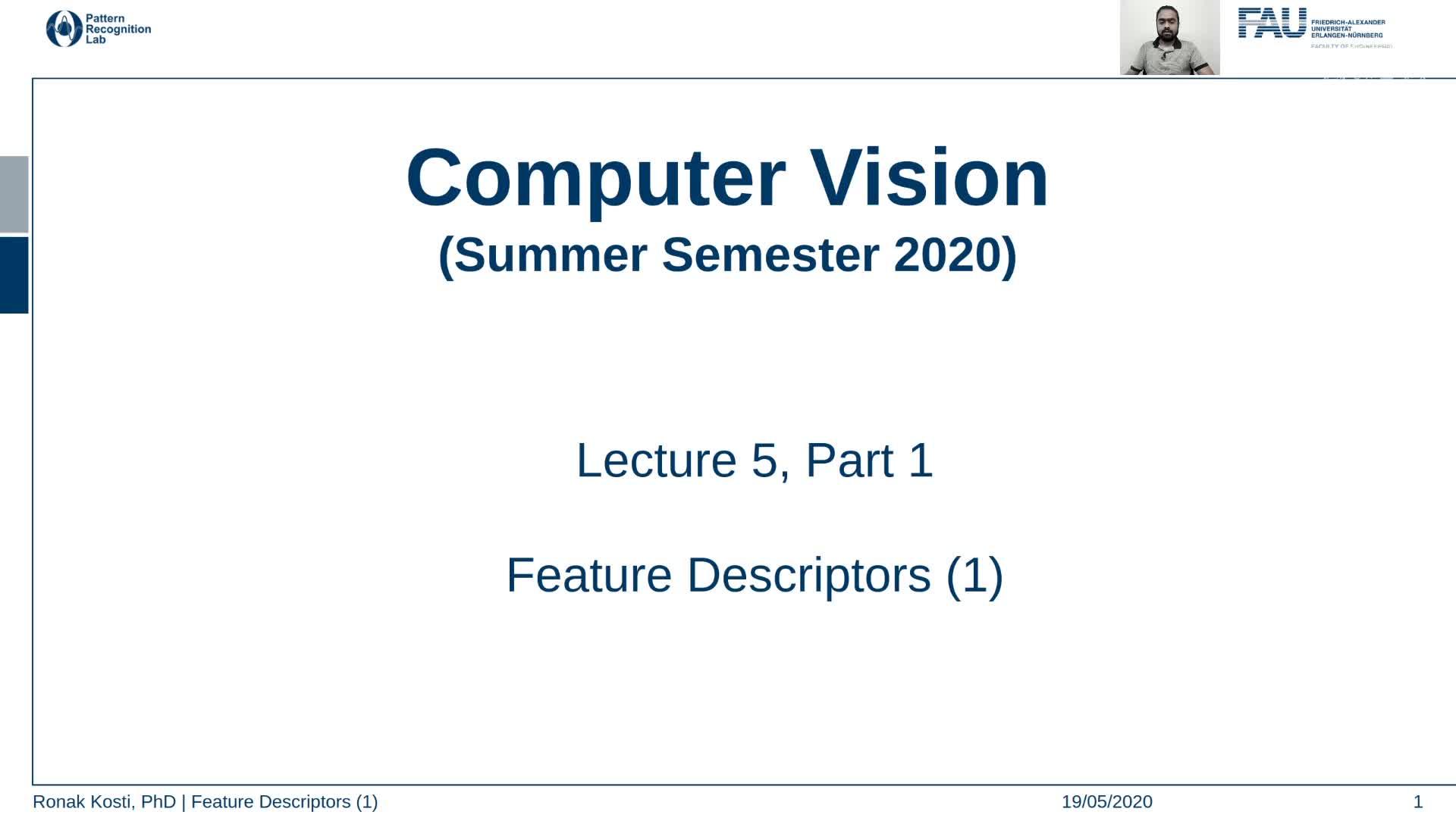 Feature Descriptors (Lecture 5, Part 1) preview image
