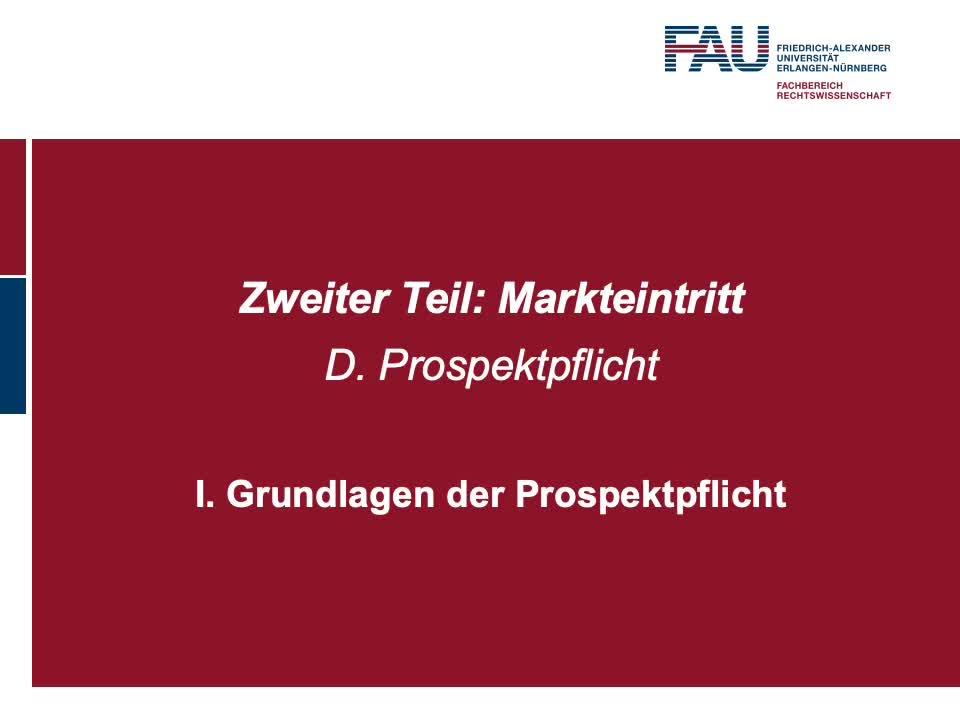 Grundlagen der Prospektpflicht, Gegenstand und Reichweite der Prospektpflicht nach der ProspektVO preview image