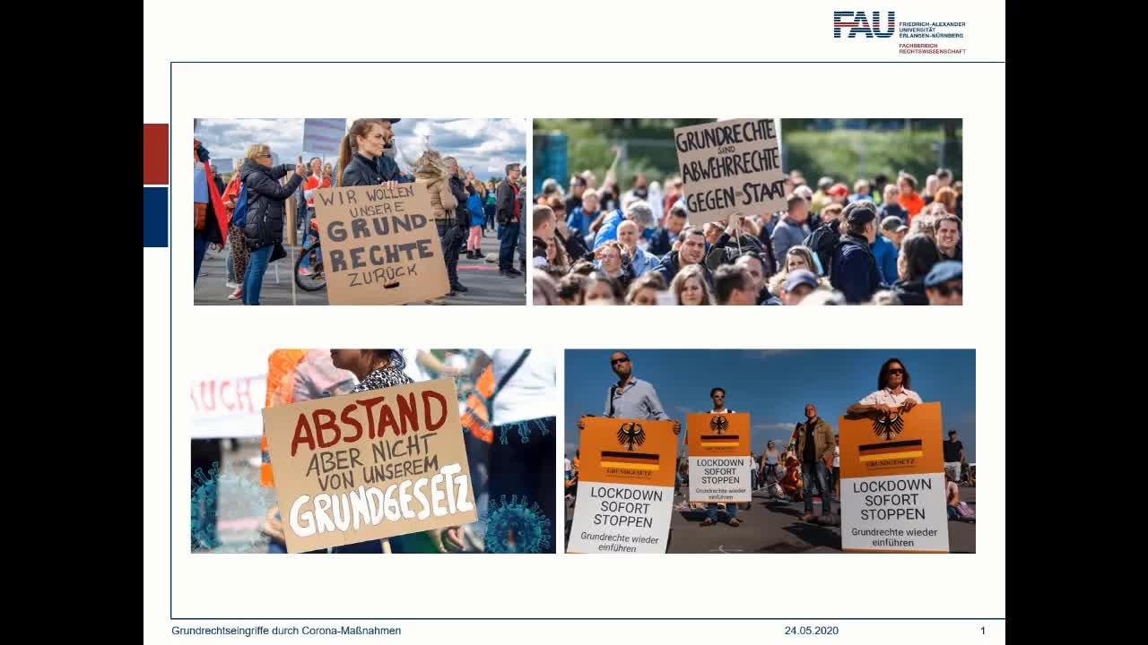 Grundrechtseingriffe durch Corona-Maßnahmen preview image